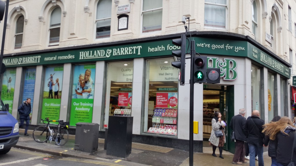 London, glutenfrei, gluten free, Zöliakie, Reisen, Holland and barrett