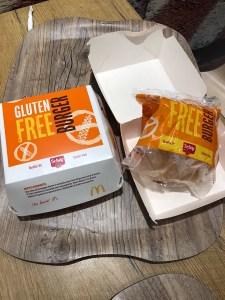 Glutenvrije hamburger Mc Donalds Italië van schar