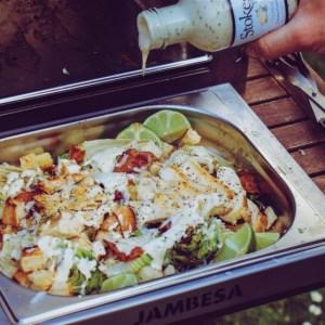 Caesar Salad vom Oberhitzegrill
