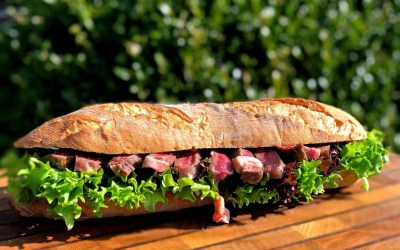 Dutch Oven Steak Baguette