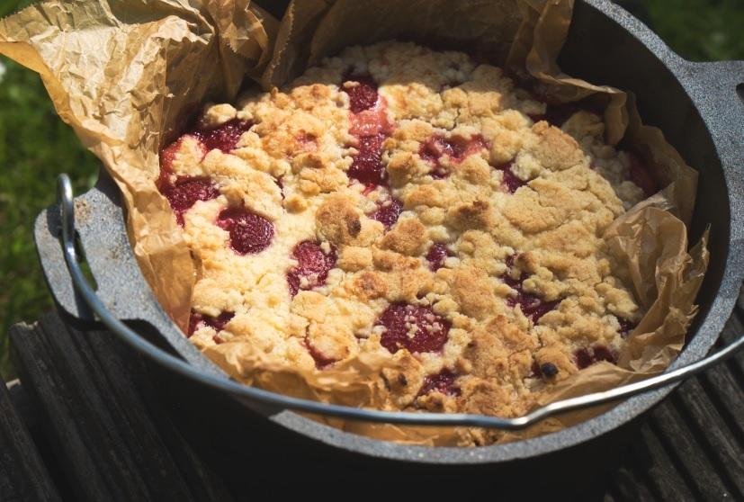 Erdbeer-Quark-Streuselkuchen
