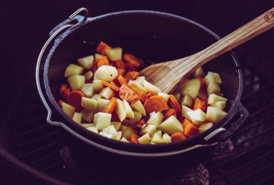 Möhren und Kartoffeln