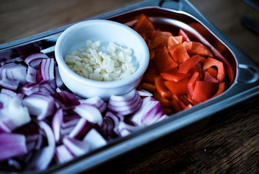 Gemüse für Rahmgulasch