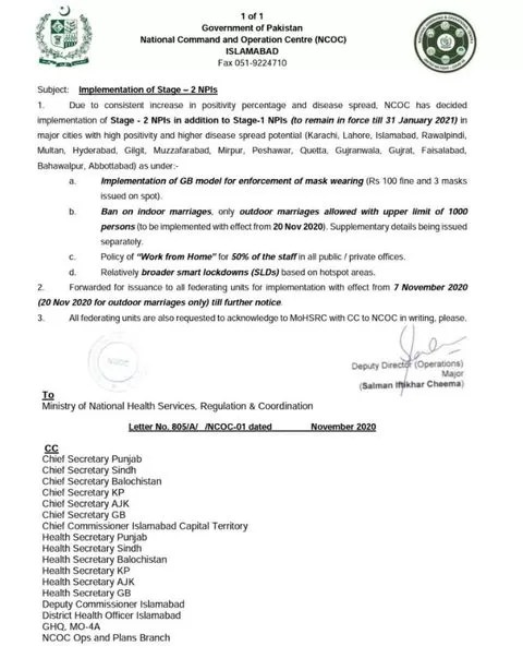 NCOC Meeting decision 2020