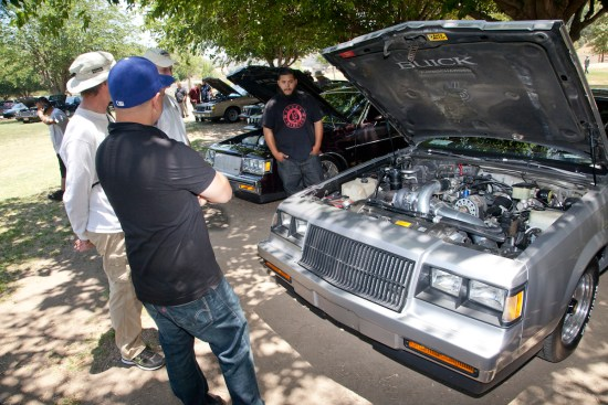 The no-pressure event doesn't give out awards and trophies, instead, it's all about camaraderie and sharing a mutual love of turbo Buicks with fellow gearheads.