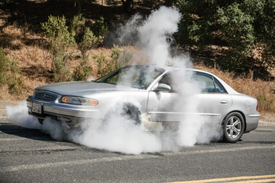 We just love burnouts, especially ones in a Regal GS. It's so wrong, well, it's right!