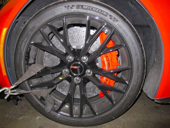 Another perk of the Z07 option are massive 15-inch diameter carbon-ceramic matrix rotors at all four corners.