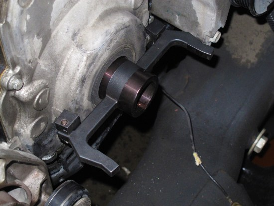 """To reinstall the timing cover, you'll need a special alignment tool like this one. If you don't use the alignment tool and just try to """"eyeball"""" it, there's a 99-percent chance you'll have an oil leak. These covers were designed to be precisely in place against the crank snout, block, and oil pan, with almost no margin for error in reinstallation. This is also one of the reasons why you seldom see an LS motor with oil leaks."""