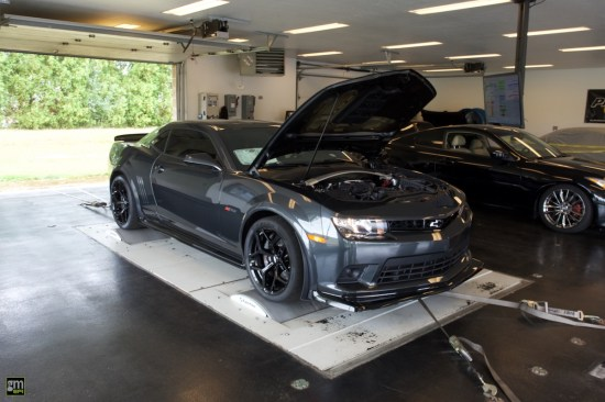 The Z/28 is secured to the dyno, and we wait with anticipation to find out what kind of difference the installation made.