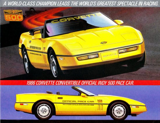 1986 Chevrolet Corvette Pace Car Folder-01