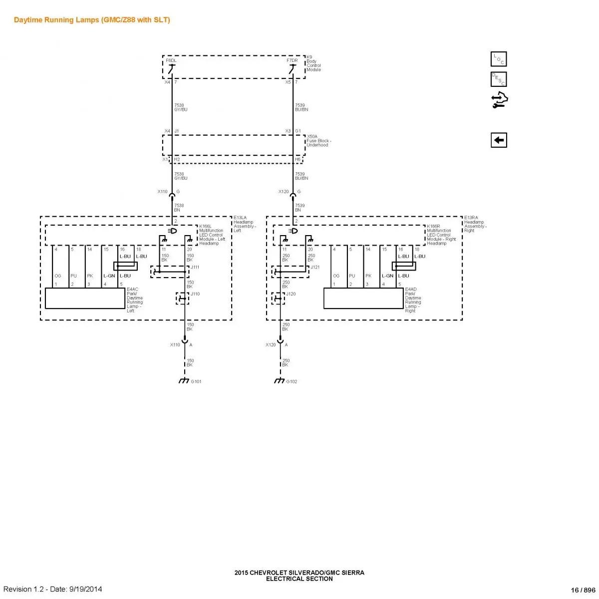 Gmc Sierra Drl Schematic
