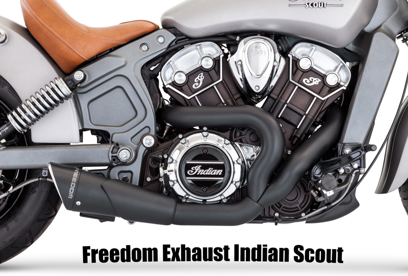 freedom exhaust indian scout 2015