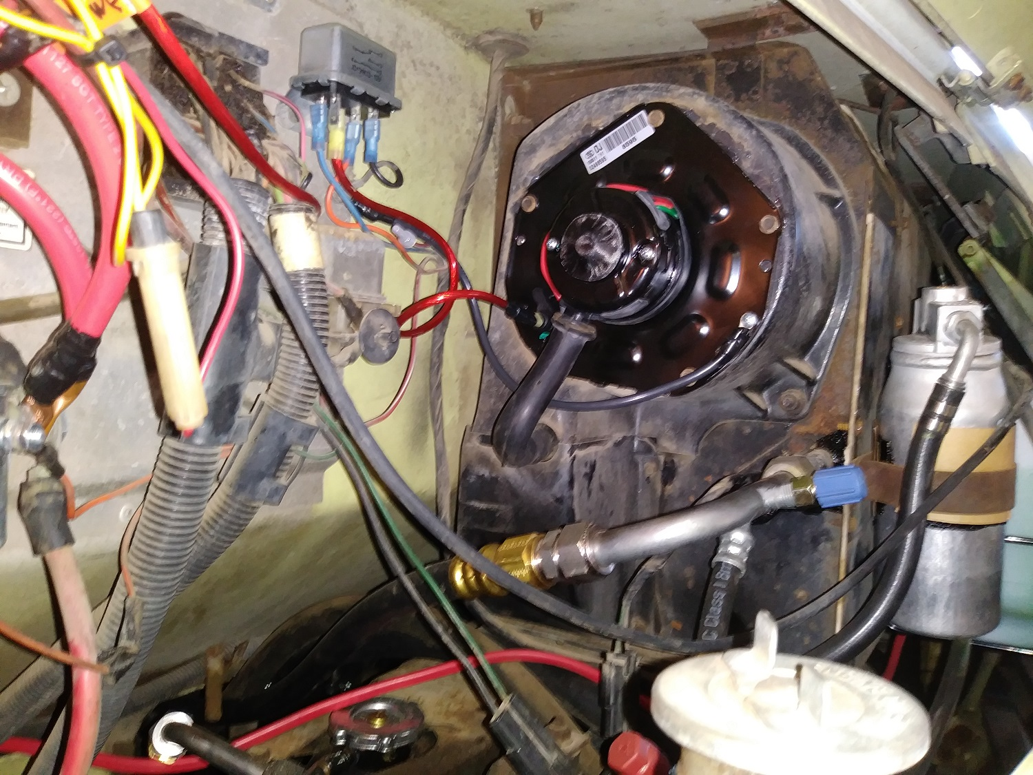 AC blower motor replace 1