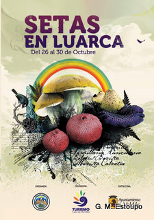 Cartel de las jornadas de las setas en Luarca
