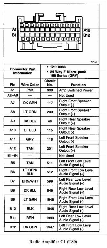 2000 ssei bose amp wiring diagram  GM Forum  Buick