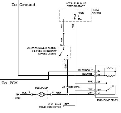 Need wiring diagram 1994 Park Avenue Ultra fuel pump