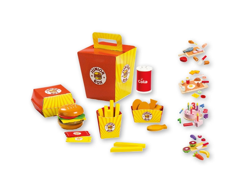 Lidl hamburger and fries toy set