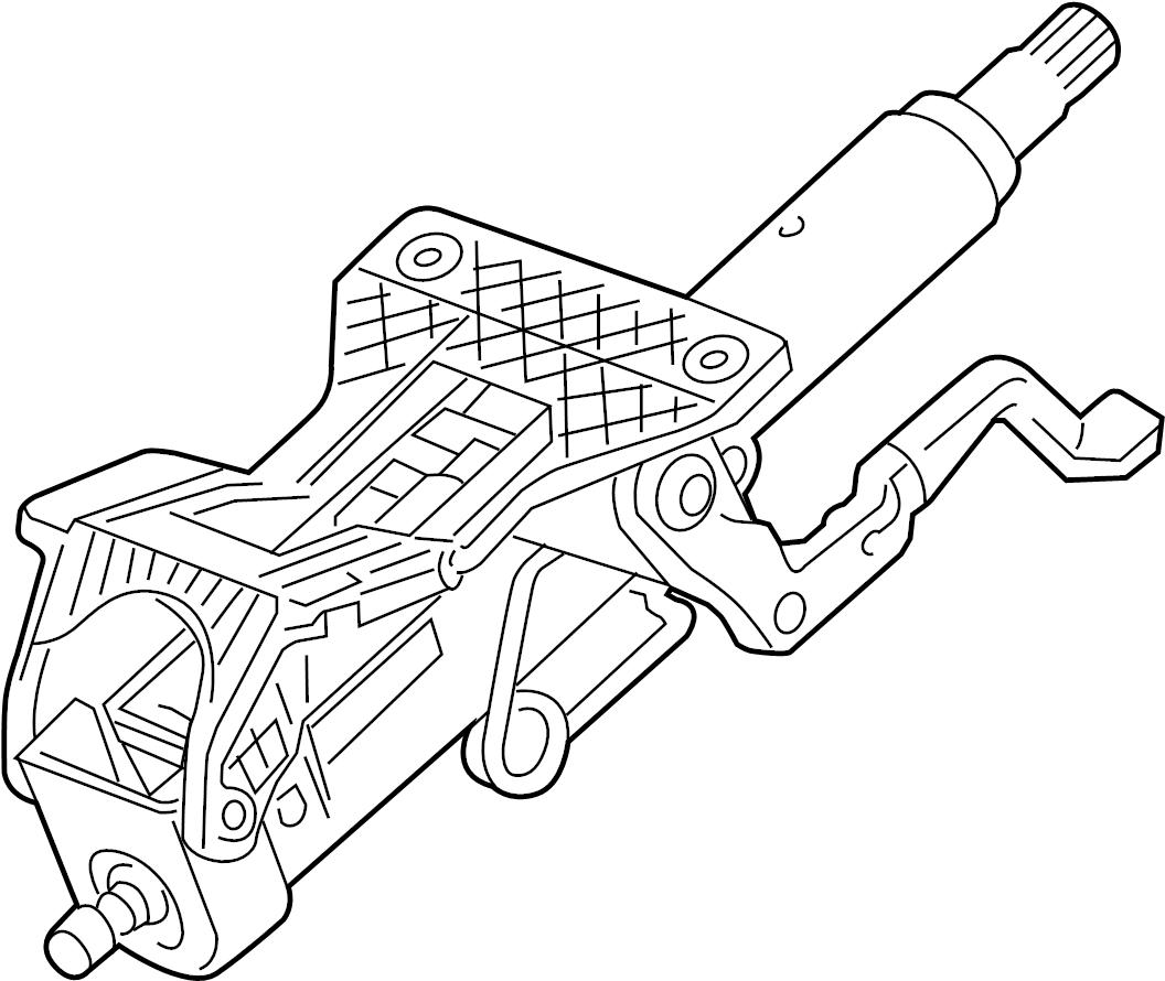 Chevrolet Cruze Ltz Steering Column W Lock Control W