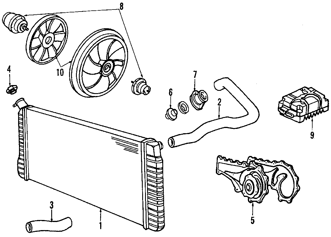 Cadillac Deville Engine Cooling Fan Blade