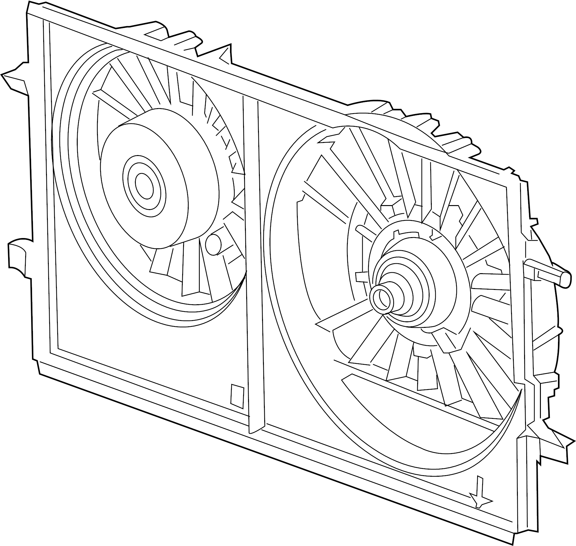 Saturn Aura Engine Cooling Fan Assembly