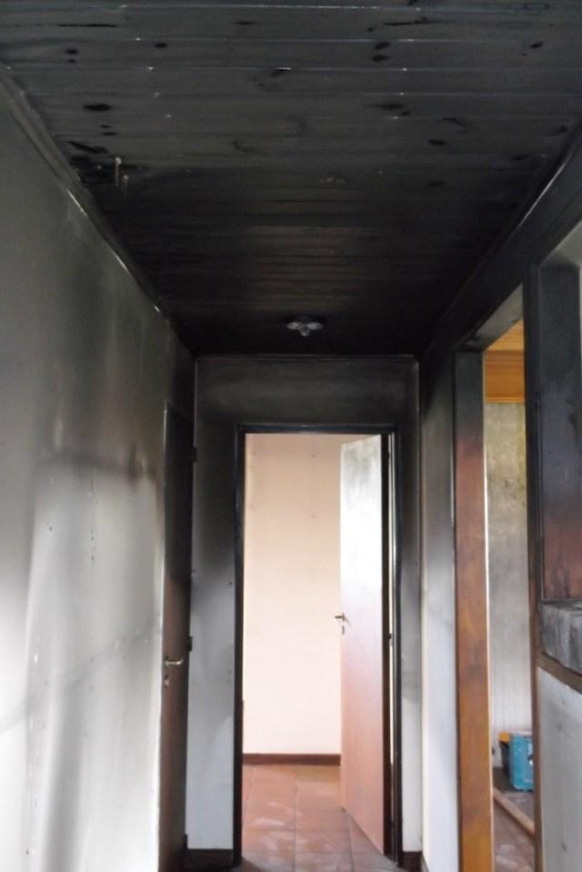 Smoke damage at Camp Chivilcoy