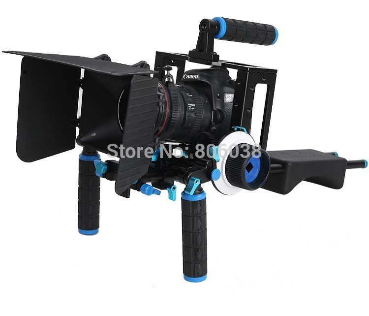 90a3ad394 4 In 1 DSLR Rig Kit Shoulder Mount Rig + Matte Box +Follow Focus+ ...