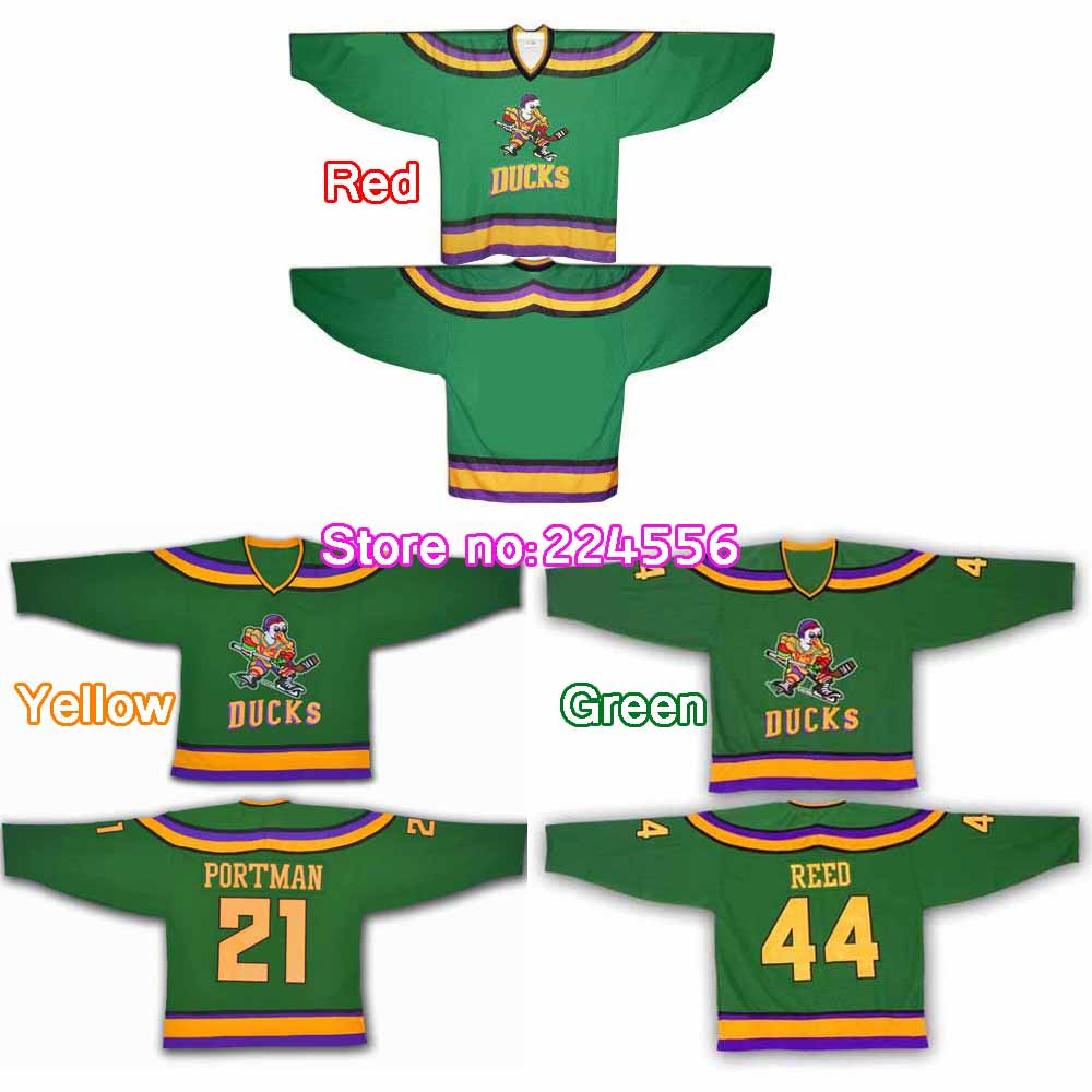 d95302229 Mighty Ducks jersey 96 Charlie Conway 99 Adam Banks 66 Gordon Bombay 21  dean portman 33 Greg Goldberg 44 Fulton Reed ...