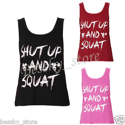 c6c4b43cf6 Women Workout Tank Top T-shirt Sport Gym Clothes Fitness Yoga Tank ...