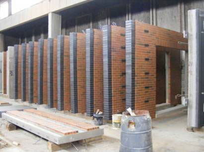 Panels are prepared for installation of windows
