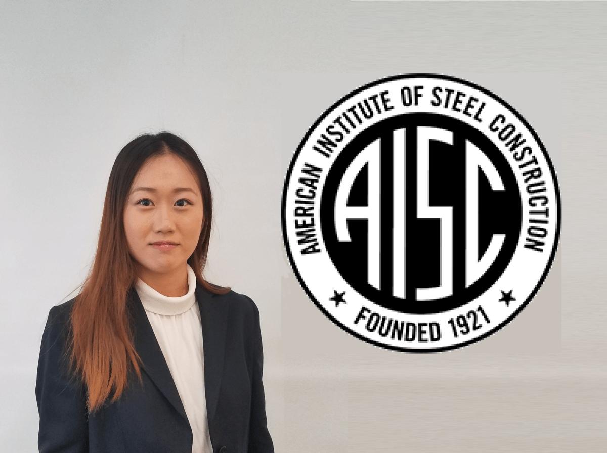 Yunfei (Phoebe) Wang and AISC logo