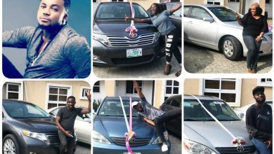 Photo of Tim Godfrey Gives Out 5 New Cars To His 'Xtreme' Crew Members