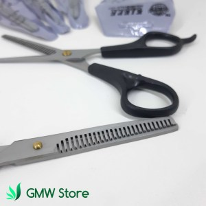 Gunting Salon Penipis Rambut Alat Cukur Stainless Steel Impor C216