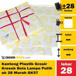 Kantong Plastik Grosir Kresek Bola Lampu Putih uk 28 Murah GK57