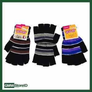 W411 Sarung Tangan Pria Tipe B02 - Men Gloves Lubang Jari Murah Motif