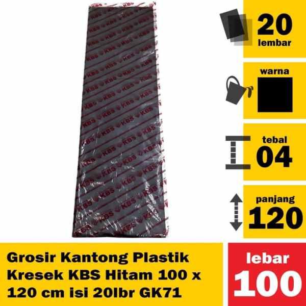 GK71 Grosir Kantong Plastik Kresek KBS Hitam 100x120cm isi 20 lbr