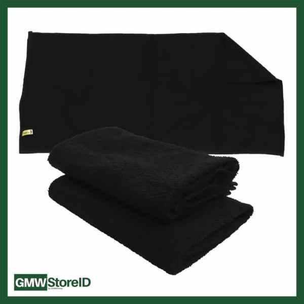 W582 Handuk Kecil 35x70cm Hitam Polos Kain Mandi Towel Cloth Tipe H27