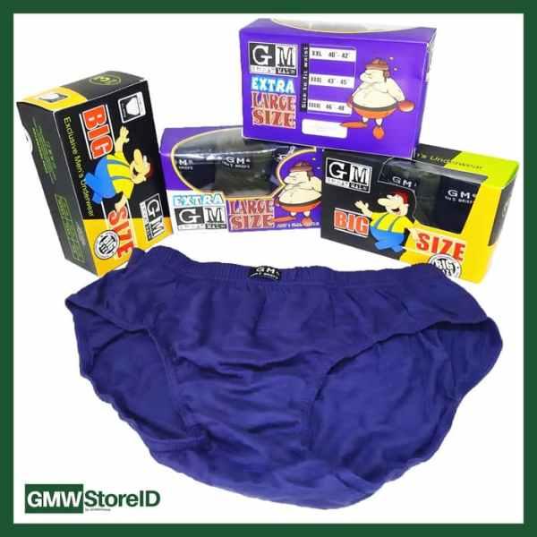 Celana Dalam Pria Underwear GM Great Male XXXL 4L CD Jumbo Besar W228