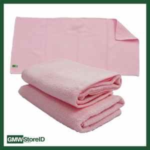 W585 Handuk Pink Kecil 35x70cm Polos Tebal Kain Mandi Towel Tipe H28