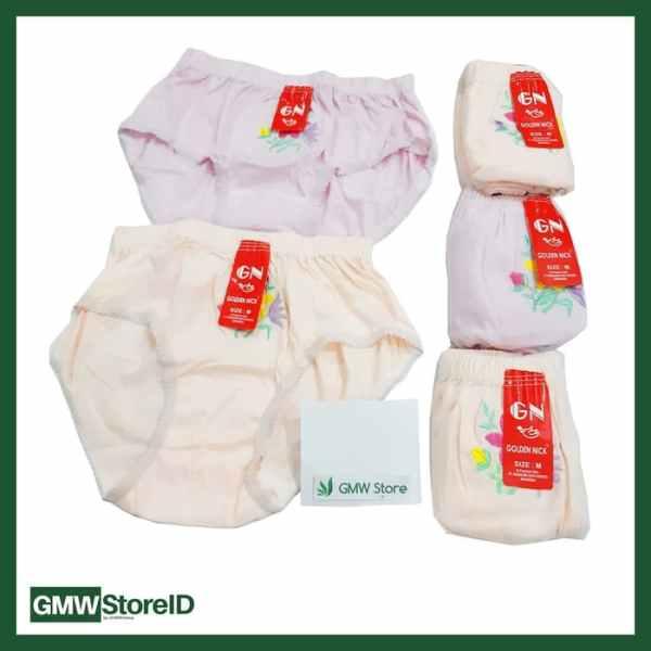 Celana Dalam CD Wanita Bordil Size M Golden Nick GN W203