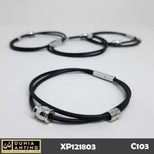 C103 Gelang Karet Trendy Bracelet Hitam Trendi Dobel Aksesoris Murah