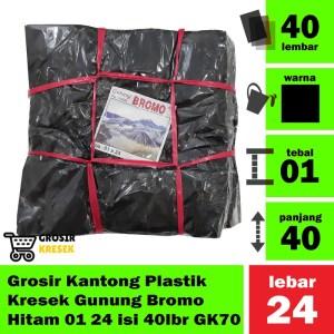 Grosir Kantong Plastik Kresek Gunung Bromo Hitam 01 24 isi 40 lbr GK70