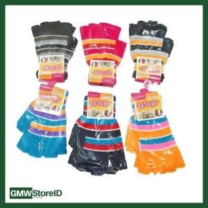 Kaos Tangan Dewasa Jari Lubang Motif Garis Wooll Gloves FG754-5-6 W344