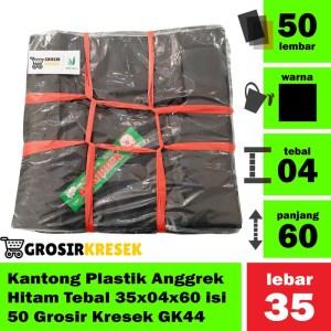 Kantong Plastik Anggrek Hitam Tebal 35x04x60 isi 50 Grosir Kresek GK44