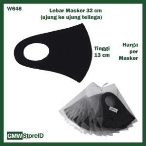 W646 Masker Scuba Motor Pria Wanita Polos Warna Anti Debu Allsize D06