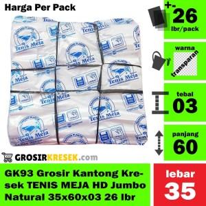 GK93 Grosir Kantong Kresek TENIS MEJA HD Jumbo Natural 35x60x03 26 lbr