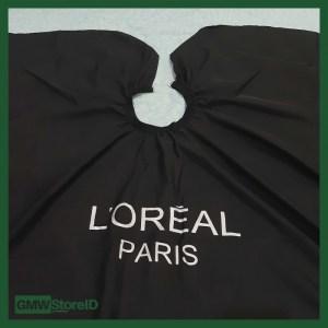 Kep Potong Rambut Salon Loreal Paris Jas Cukur Hitam Polos Tebal C209