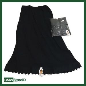 Androk Rok Hitam Sampai Mata Kaki Pakaian Dalam Wanita Cin-Cin 3L W341