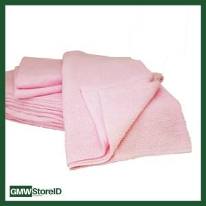 Handuk Merah Muda / Pink N370 Size 35 Cm x 70 Cm