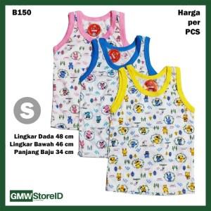 B150 Baju Buntung Bayi Singlet S Kutungan Motif Putih Warna Baby SNI