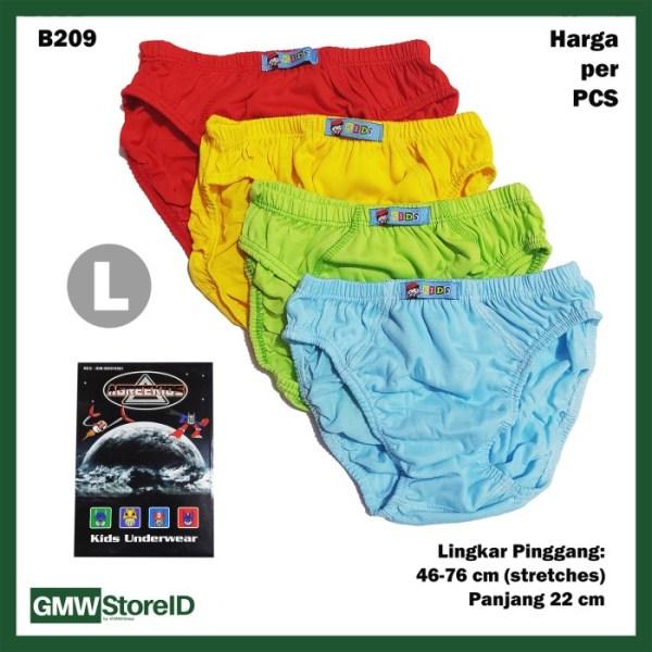 B209 CD Anak Cowok Laki L Warna Polos Celana Dalam Agree Kids SNI
